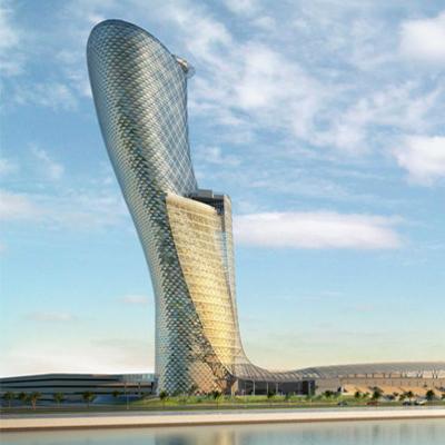 بدلا من برج بيزا..برج كابيتال جيت في ابوظبي الاكثر ميلانا في العالم