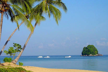 شاطئ جزيرة تيومان، ماليزيا