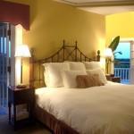 غرف الفندق الفاخرة مع إطلالتها المميزة على الحديقة