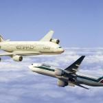 طيران الاتحاد وأليطاليا للطيران