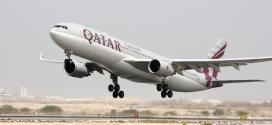 أول طائرة للخطوط القطرية من طراز ايرباص A350-900 تحلق فوق الأطلسي