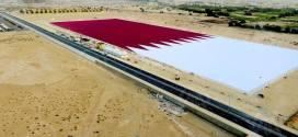 تدشين أكبر علم رملي بالعالم في قطر