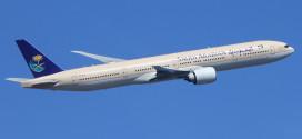 """""""الخطوط السعودية"""" تتسلم طائرة جديدة من طراز بوينج 777-300 ER"""