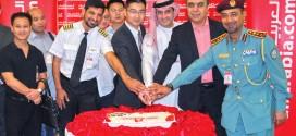 """""""العربية للطيران"""" تبدأ رحلاتها الى مدينة أورومتشي الصينية"""