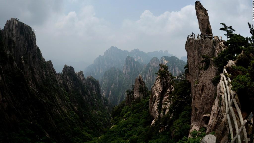 جبل هوانغشان  Mount Huangshan في الصين الشعبية