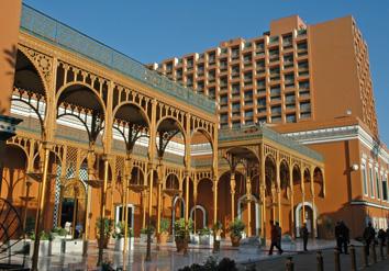 مدخل فندق ماريوت القاهرة حالياً