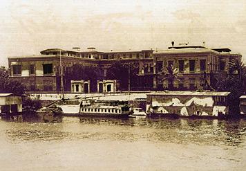 صورة قديمة لقصر الجزيرة