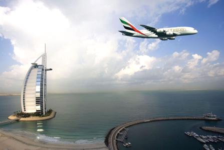 طيران الإمارات و برج العرب في دبي