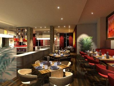 مطعم في فندق سنترو برشاء دبي