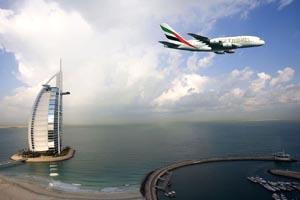 طيران الإمارات و برج العرب