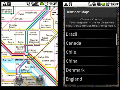Transport maps - android