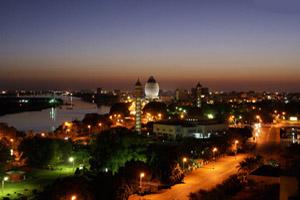 الخرطوم في السودان ليلاً