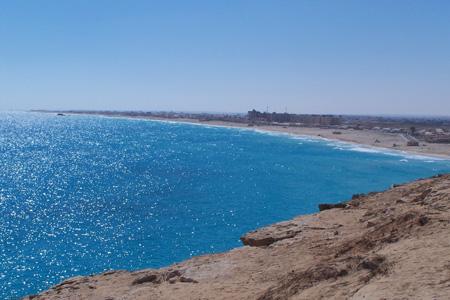 شاطئ في مرسى مطروح ، مصر