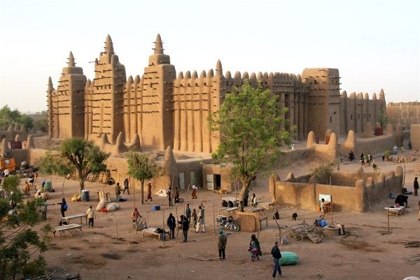 المسجد الكبير في مدينة جينيه ـ مالي