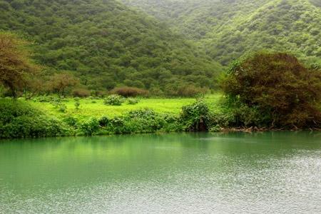 تتميز صلالة بطبيعة خلابة وطقس فريد (وادي دربات)