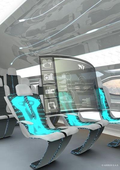 شاشات تفاعلية ـ طائرة إيرباص الشفافة