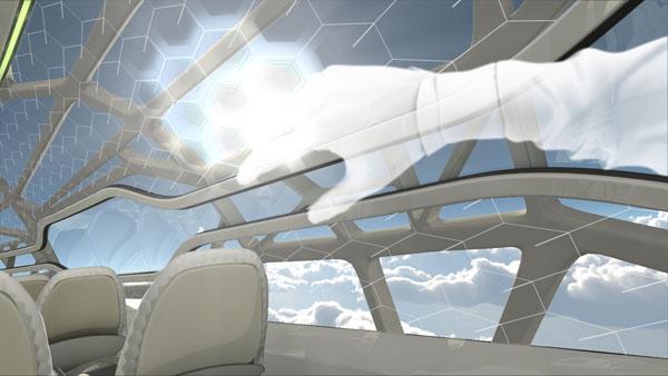 طائرة إيرباص الشفافة