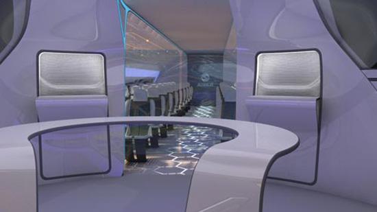 طائرة إيرباص الشفافة تتوافق مع الإضاءة