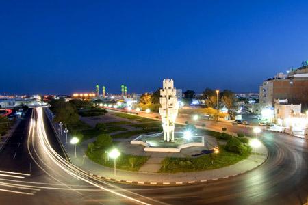 مدينة تبوك ليلاً ـ السعودية