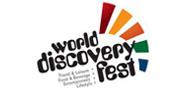 شعار مهرجان اكتشاف العالم ـ دبي