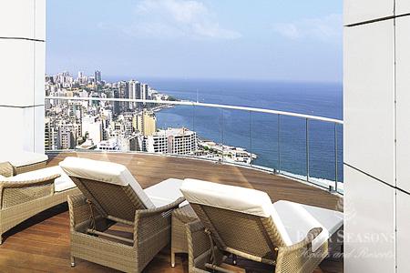 إطلالة فندق فورسيزونز بيروت