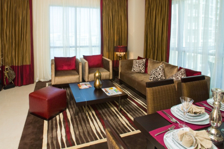 جناح في فندق رمادا داون تاون، دبي