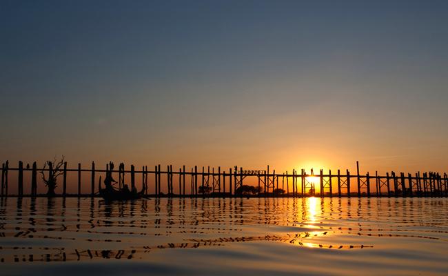 """جسر """"يو ـ باين"""" - """"U-Bein Bridge"""" ، بورما\ ميانمار"""