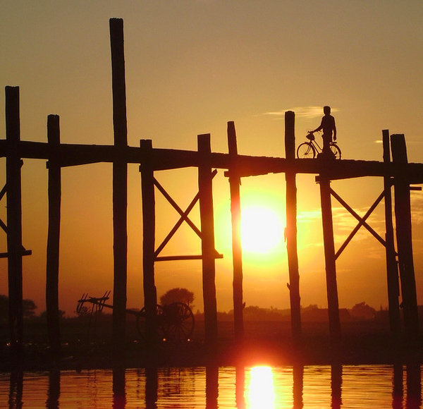 "جسر ""يو ـ باين"" - ""U-Bein Bridge"" ، بورما\ ميانمار"
