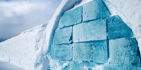 مدخل فندق الثلج ـ السويد