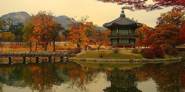 ألوان فصل الخريف في كوريا، قصر جيونجبوك القديم في سيؤول