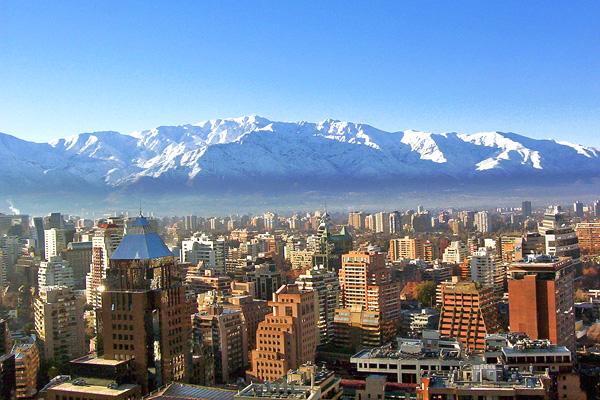 سانتياجو شتاءً، تشيلي