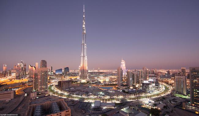 وسط دبي وبرج خليفة 11/11/2011