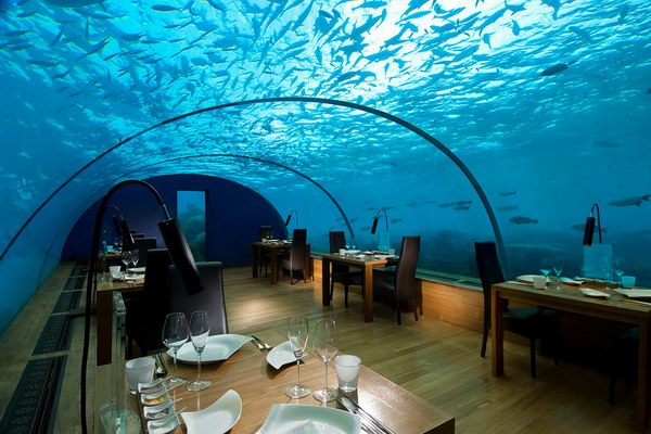 for Hotel en maldivas con restaurante bajo el agua