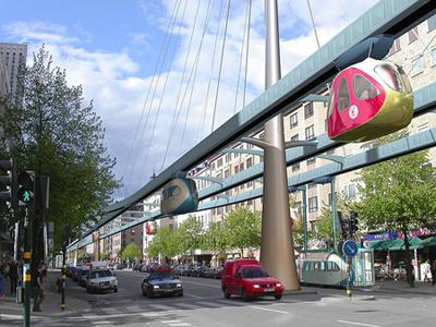 أحد نماذج المواصلات صديقة البيئة في مدينة مصدر