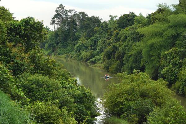 قارب الـ هانج ياو فى رحلة نهرية، تايلاند