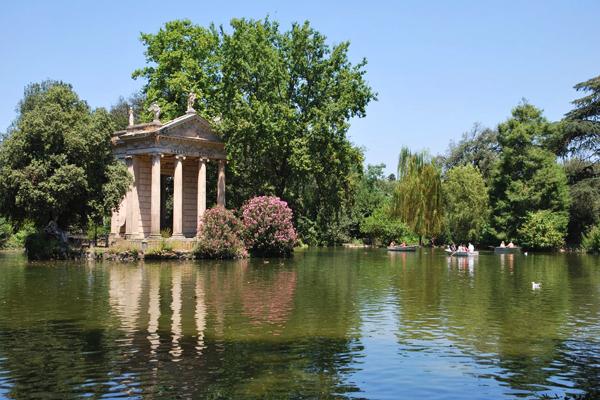 حدائق فيلا بورجيزى، روما، إيطاليا