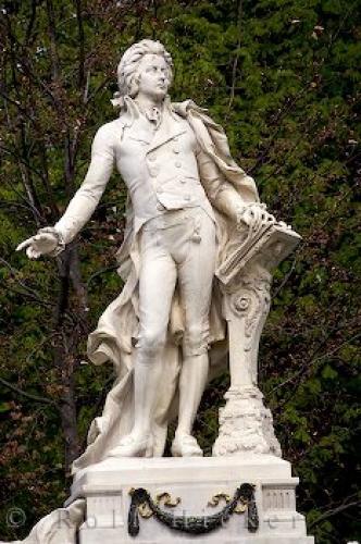 تمثال الموسيقار الشهير موتسارت في فيينا