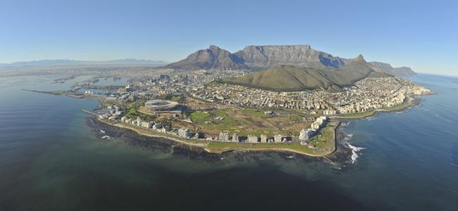 صورة جوية لكيب تاون، جنوب أفريقيا