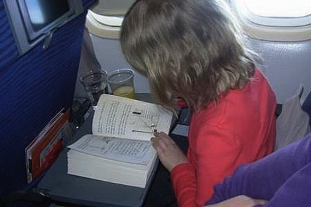 القراءة في الطائرة
