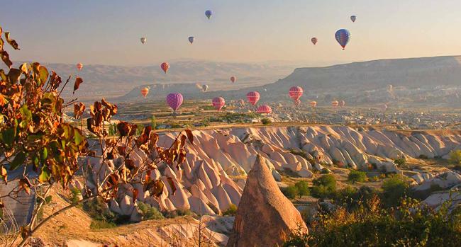 رحلات المنطاد فوق كبادوكيا، تركيا