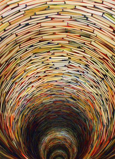 برج ومتاهة من الكتب في مكتبة براغ