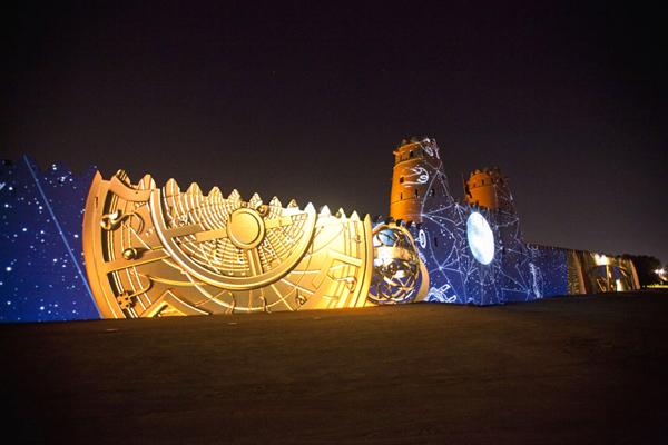 عرض الأضواء على قلعة الجاهلي، العين ـ الإمارات