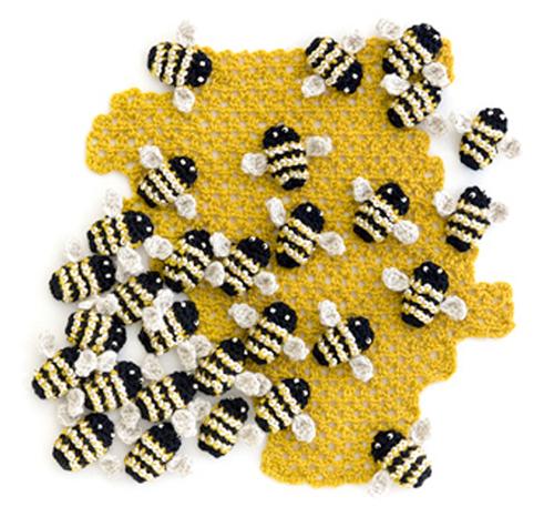 نحل وعسل من الغزل