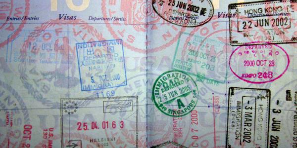 أختام جوازات السفر
