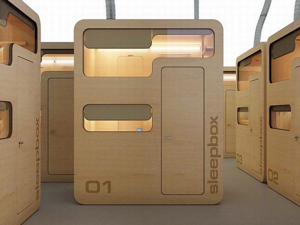 هكذا تبدو كابينة sleepbox من الخارج