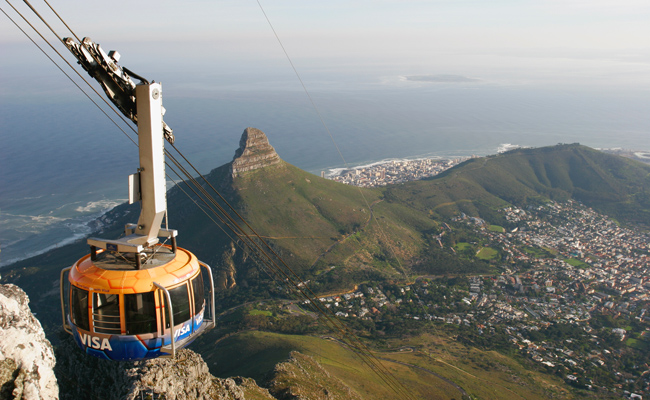 تلفريك فوق جبل الطاولة، كيب تاون ـ جنوب أفريقيا