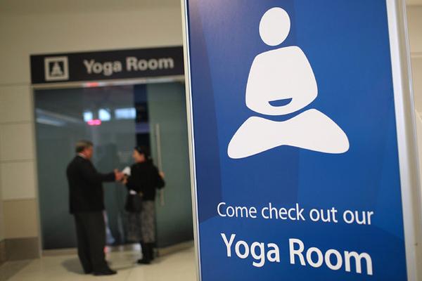 غرفة لليوجا في مطار سان فرانسيسكو