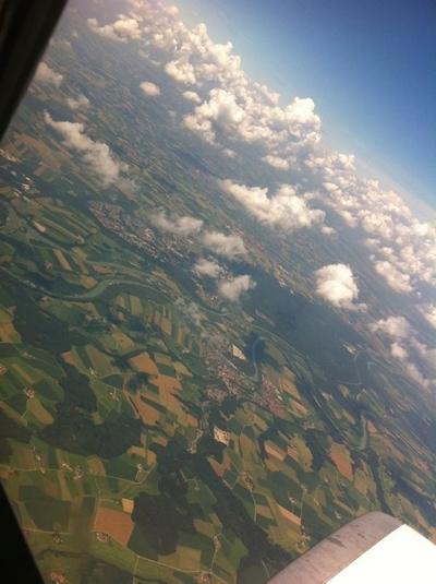 ألمانيا كما تبدو من الطائرة