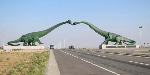 ديناصورات على الحدود بين منغوليا والصين