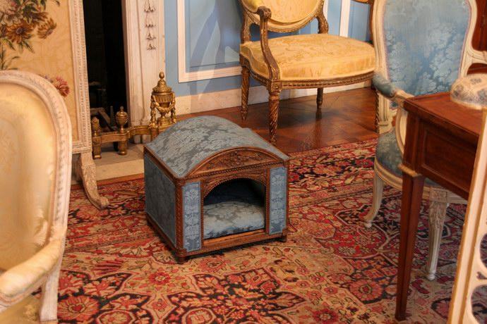 بيت القطط داخل إحدى غرف المتحف